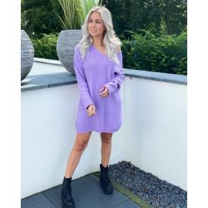 Lieve sweater dress purple