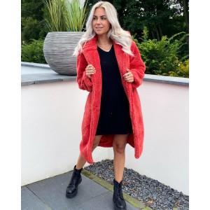 Jess teddy coat red