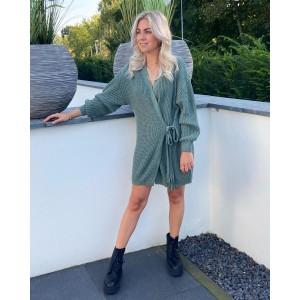 Floor sweater dress green