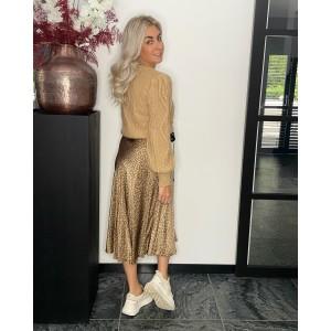 Renate satin skirt creme