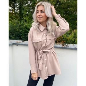 Jojo leather jacket light pink
