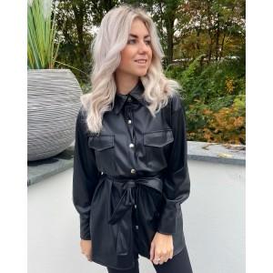 Jojo leather jacket black