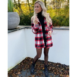 Shell checkered blouse red