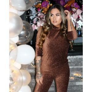 Lizzy-lo glitter comfy pak brown