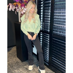 Mila flared jeans black