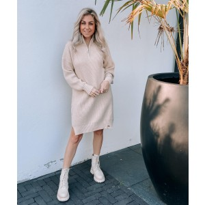 Lisa sweater dress taupe