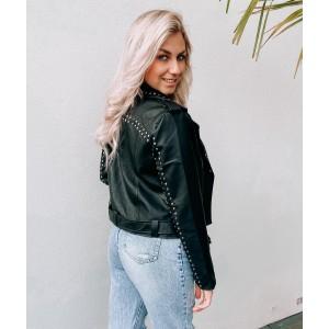 Tara leather jacket studs