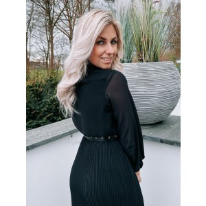 Luca plissé dress black