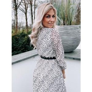 Luca plissé dress cheetah