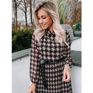 Luca plissé dress creme/black