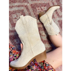 Lexi suede boots creme