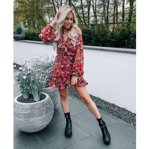 Myrthe flower dress multi
