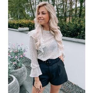 Loesje blouse dots white
