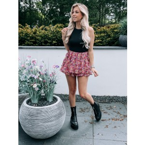Jilly flower skirt pink