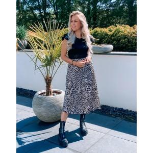 Mella satin skirt black