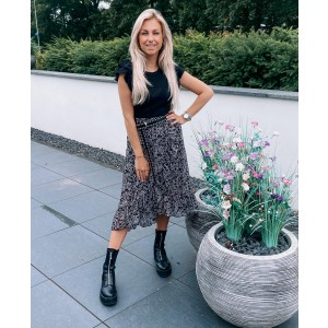 Kenya ruffle skirt black/white