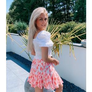 Sheila flower skirt white/pink