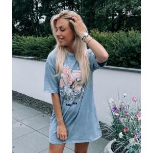Laura t-shirt dress ice blue