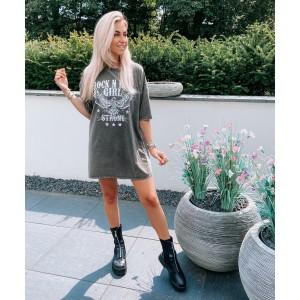 Gaby t-shirt dress grey