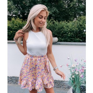 Kola flower skirt lila/yellow