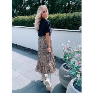 Kenya ruffle skirt yellow/black