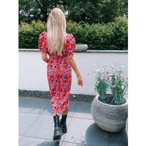 Kola flower dress red/pink