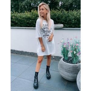 Gaby t-shirt dress white