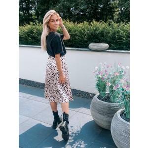 Marlou satin skirt leopard