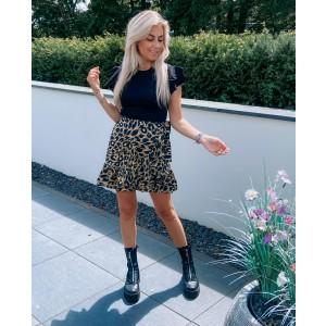 Milly leopard skirt green