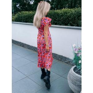Milou flower dress pink/red