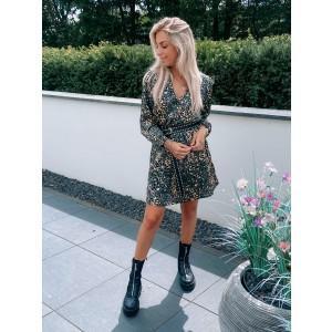 Sarah leopard dress green